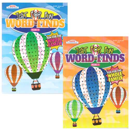 Case of [48] Just For Fun Word Finds Puzzle Book