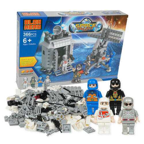 Case of [6] 366 Piece Space Explorer Building Playset