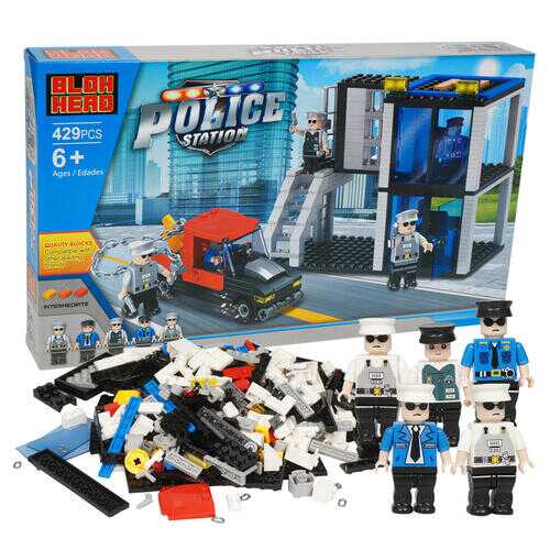Case of [6] 429 Piece Police Station Building Playset