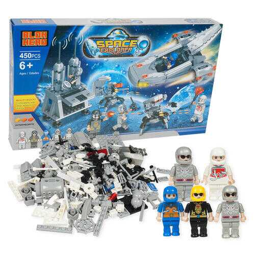 Case of [6] 450 Piece Space Explorer Building Playset