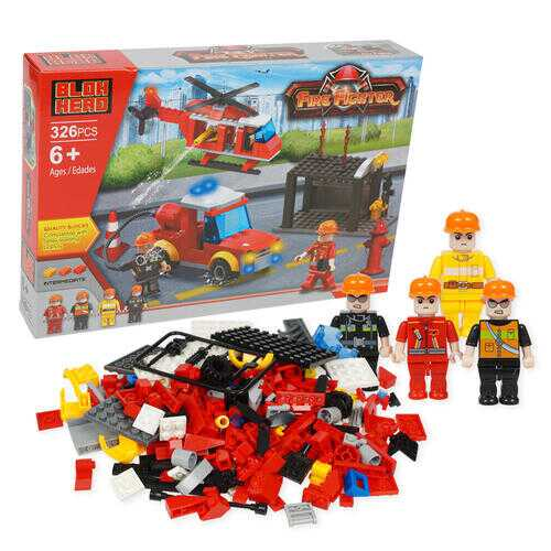 Case of [6] 326 Piece Firefighter Building Playset