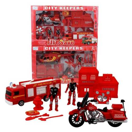 Case of [12] 10 Piece City Keepers Fire Department Toy Set