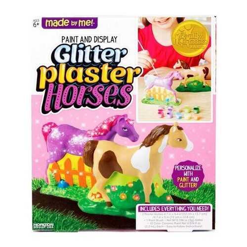 Case of [2] Glitter Plaster Horses