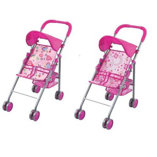 Case of [12] Doll Stroller with Hood and Basket