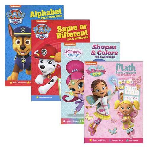 Case of [24] Nickelodeon Assorted Workbooks