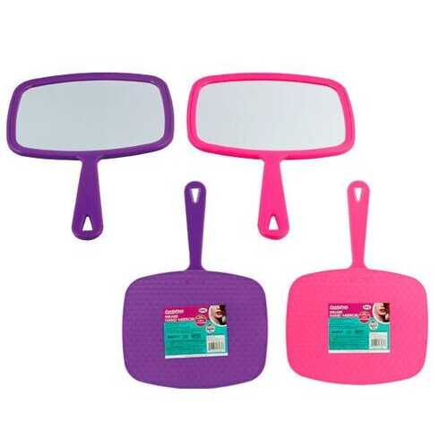 "Case of [24] TV Mirror with Handle, 7.5"" x 6.25"""