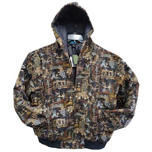 Case of [12] Plus Size Men's Jacket - Industrial Camo