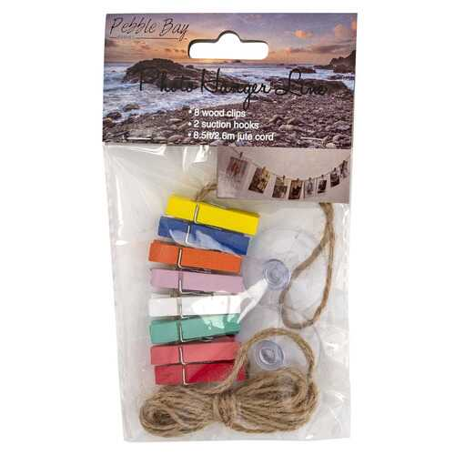 Case of [48] Clothespin Photo Hanger Line - 8.5'