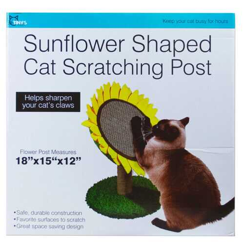Case of [1] Sunflower Shaped Cat Scratching Post