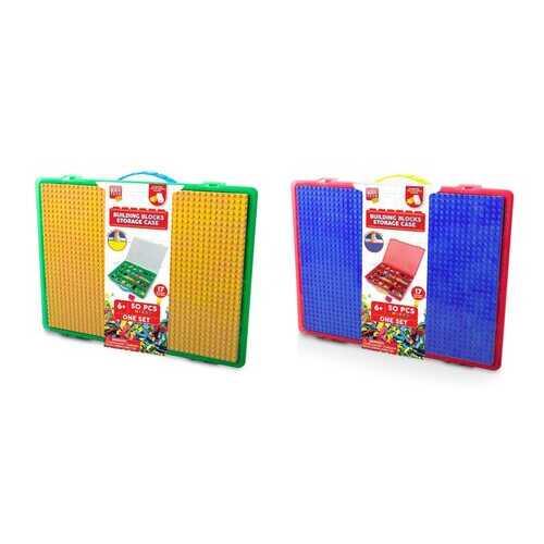 Case of [4] 50 Piece Building Blocks Storage Case - Assorted Colors