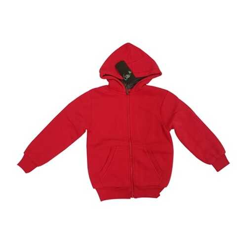 Case of [12] Youth Sherpa Hoodie with Zipper - Red