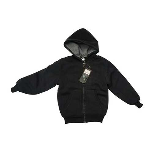 Case of [12] Youth Sherpa Hoodie with Zipper - Black