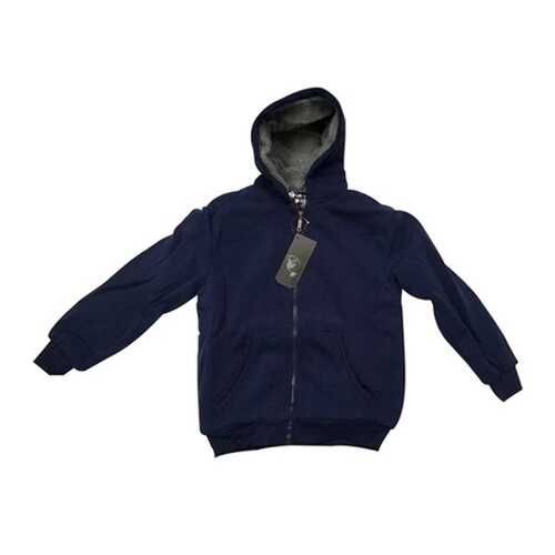 Case of [12] Youth Sherpa Hoodie with Zipper - Navy