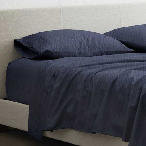 Case of [6] Patterned Sheet Set - Navy, Queen, 4 Piece