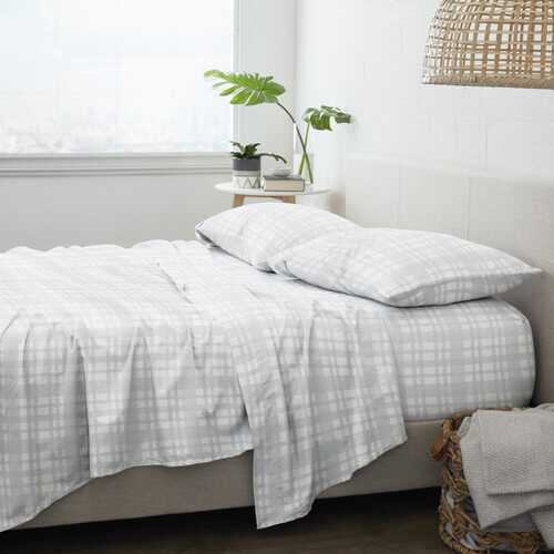 Case of [12] Home Collection Premium Woven Flannel Bed Sheet Set - 4 Piece