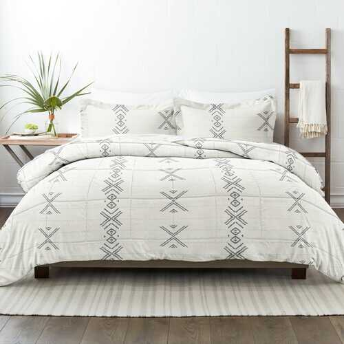 Case of [9] Home Collection Premium Down Alternative Urban Stitch Patterned Comforter Set