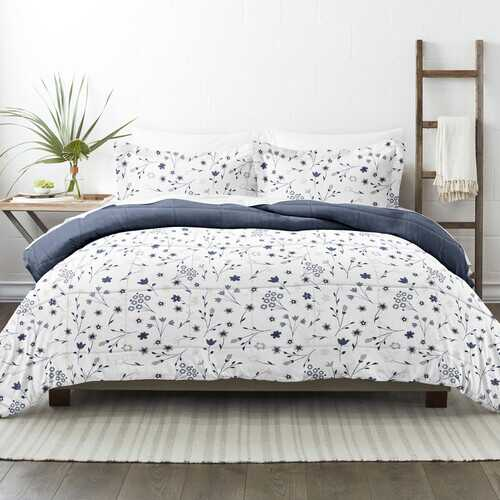 Case of [9] Home Collection Premium Down Alternative Forget Me Not Reversible Comforter Set