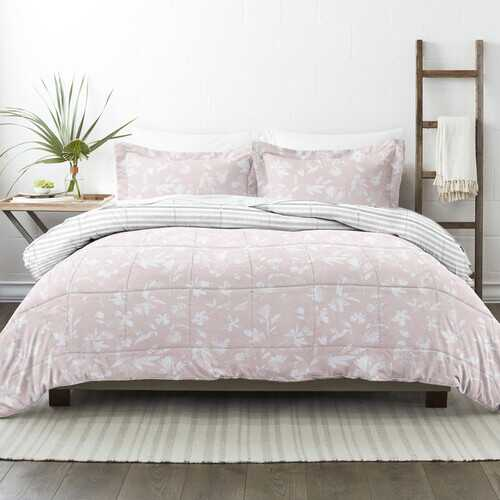 Case of [9] Home Collection Premium Down Alternative Pressed Flowers Reversible Comforter Set