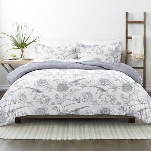 Case of [9] Home Collection Premium Down Alternative Molly Botanicals Reversible Comforter Set
