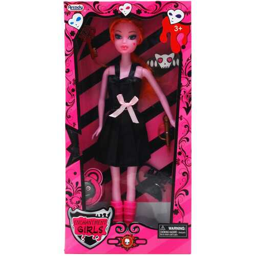 """Case of [12] 11"""" Monster Doll With Small Accessories - Assorted"""