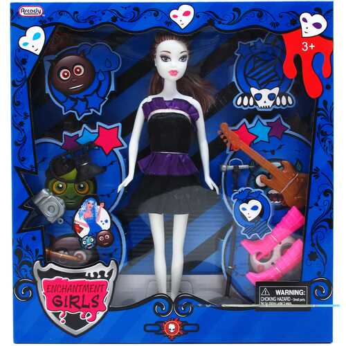 """Case of [12] 11"""" Monster Doll With Large Accessories - Assorted"""