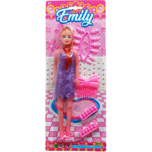 """Case of [36] 11"""" Emily Fashion Doll With Accessories - Assorted"""