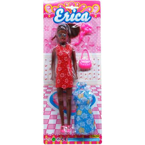 """Case of [36] 11"""" Erica Doll With Accessories - Assorted"""