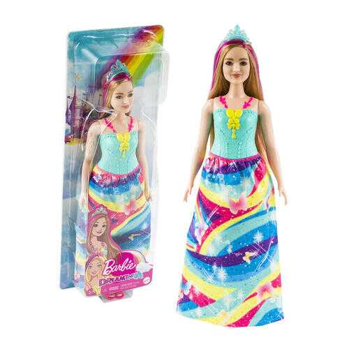 Case of [3] Barbie Doll with Rainbow Dress