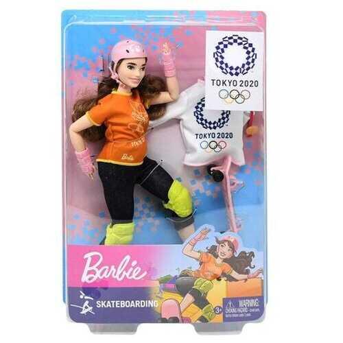 Case of [12] Mattel Barbie Skateboarder Doll
