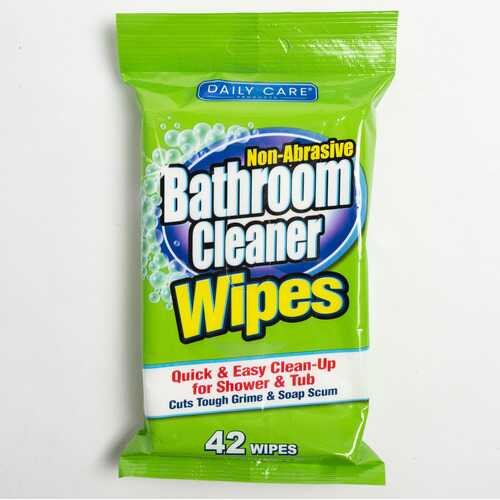 Case of [24] Bathroom Cleaner Wipes, 42 count