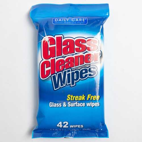 Case of [24] Glass Cleaner Wipes, 42 count