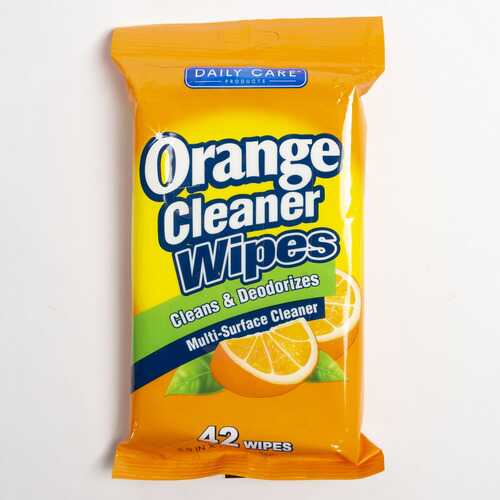 Case of [24] Orange Cleaner Wipes, 42 count