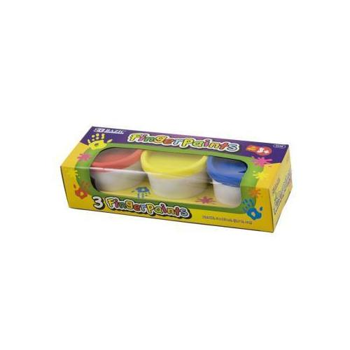 Case of [48] BAZIC Assorted Color 80ml Finger Paint (3/Pack)