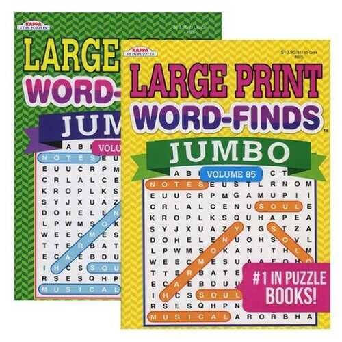 Case of [48] KAPPA Jumbo Large Print Word-Finds Puzzle Book