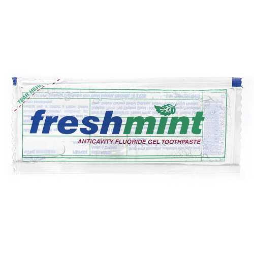 Case of [1000] Freshmint Single Use Clear Gel Toothpaste Packet .28 oz