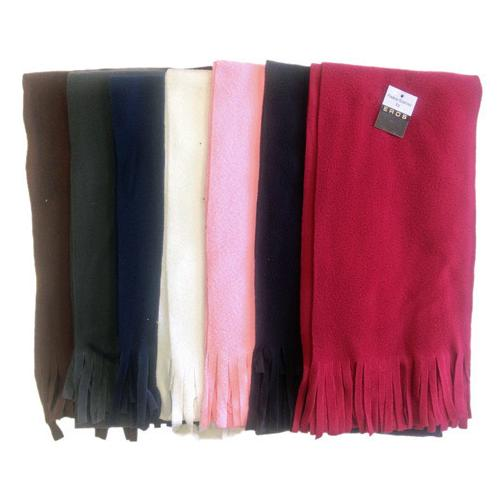 Case of [24] Adult Winter Fleece Scarves - Solid Colors