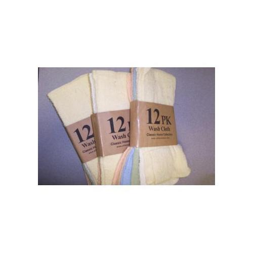 Case of [24] Solid Wash Cloth - 12 Pack