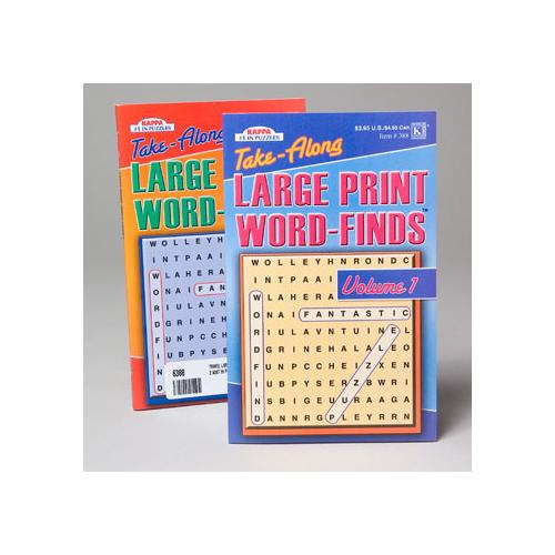 Case of [144] Large Print Word Find - Travel Size