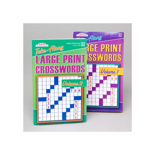 Case of [144] Large Print Crossword Puzzle for Travel