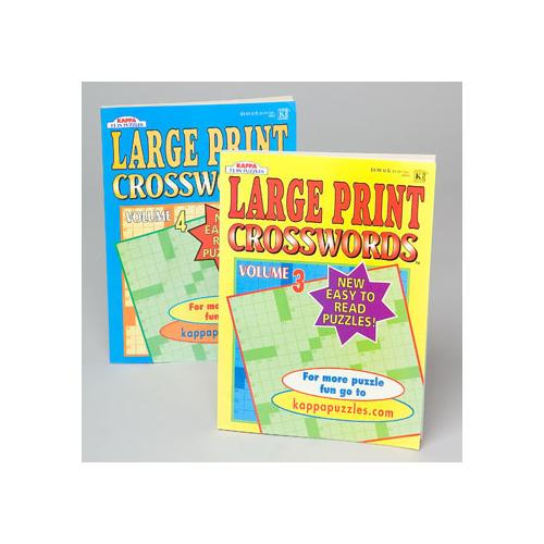 Case of [120] Large Print Crossword Puzzle