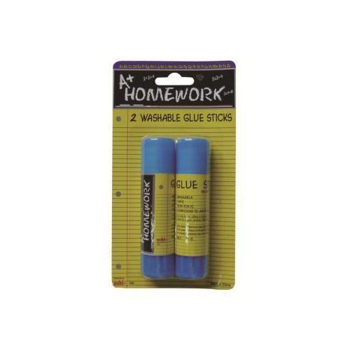 Case of [48] Glue Sticks Washable - 2 pk - .53 oz ea