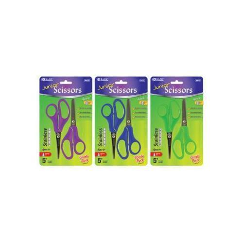 "Case of [24] BAZIC 5"" Blunt & Pointed Tip School Scissors (2/Pack)"