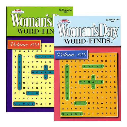 Case of [24] KAPPA Woman's Day Word Finds Puzzle Book-Digest Size