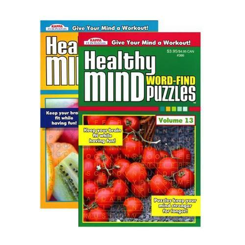 Case of [24] KAPPA Healthy Minds Words Finds Puzzle Book - Digest Size