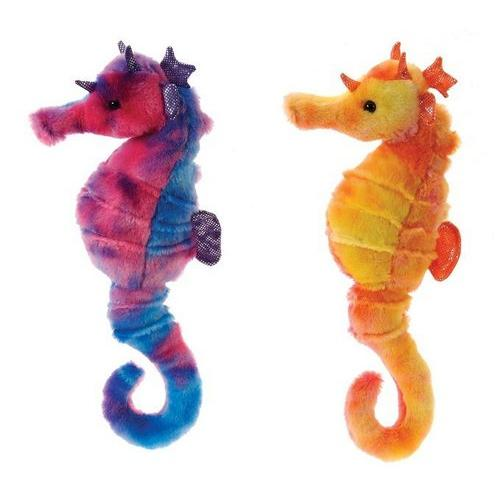 "Case of [24] 13"" Tie Dye Seahorse Plush Toy - Assorted Colors"