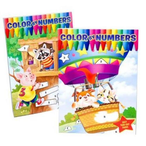 Case of [24] Color By Number Children's Book