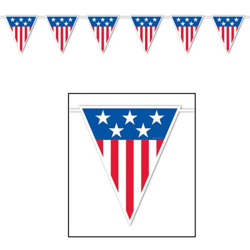 Case of [12] American Spirit Giant Pennant Banner