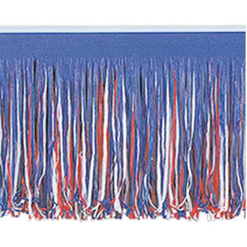 Case of [12] 6-Ply Tissue Fringe Drape - Red, White, Blue