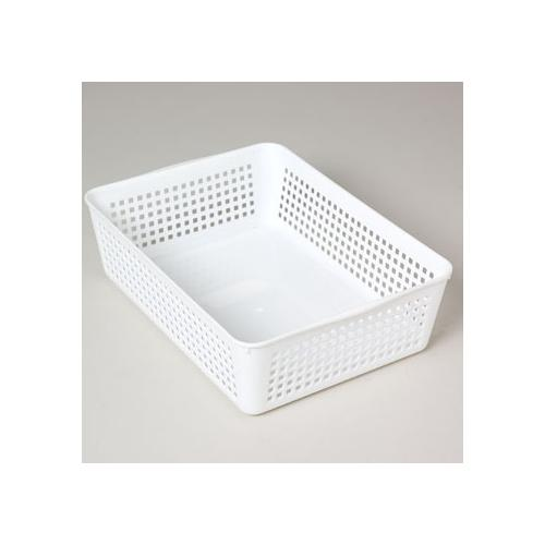 Case of [48] Storage Basket Rectangular Slotted 12 X 8.66 X 3.44