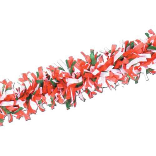 Case of [24] Packaged Tissue Festooning - Red, White, Green